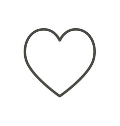 heart icon line outline love symbol vector image