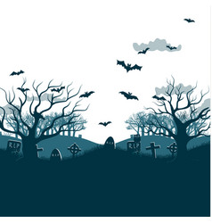 htraditional holiday halloween night party poster vector image