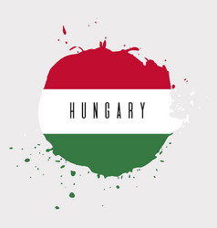 hungary watercolor national country flag icon vector image