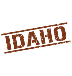 Idaho brown square stamp vector