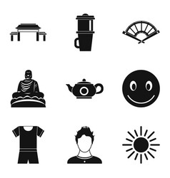 Internship icons set simple style vector