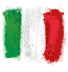 italian flag painted with a brush vector image