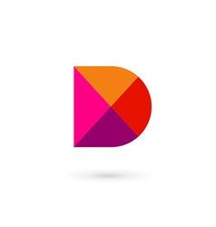 Letter D mosaic logo icon design template elements vector image