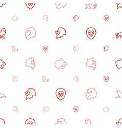 lion icons pattern seamless white background vector image