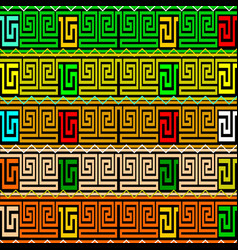meanders greek key borders seamless patterm vector image