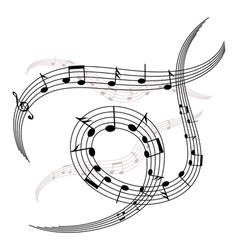 melody and notes vector image