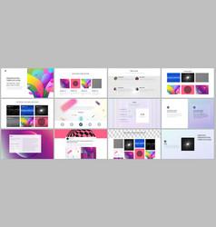 Minimal presentations portfolio templates with vector