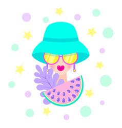 modern girl in hat vector image