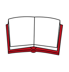 opened book design vector image
