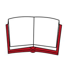 Opened book design vector