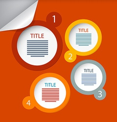 Orange Circle Paper Infographics Layout - Template vector