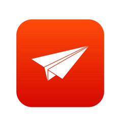 paper airplane icon digital red vector image