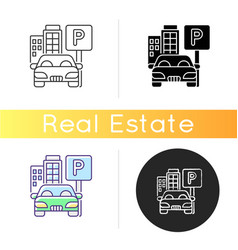 parking spot icon vector image