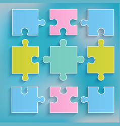 parts of multi-colored puzzles vector image