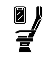 Passenger seat glyph icon vector