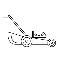 Petrol grass cut machine icon outline style vector