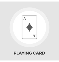 Playing cards flat icon vector