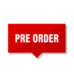 Pre order red tag vector