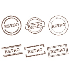 Retro stamps vector image