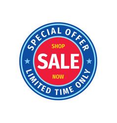 sale badge design discount special offer banner vector image