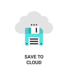 save to cloud vector image