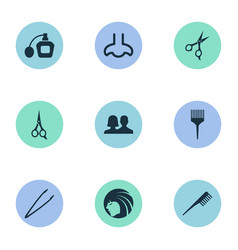 Set of simple beauty icons vector