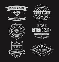 Set vintage logo label badge and logotype vector