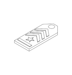 Shoulder strap icon isometric 3d style vector