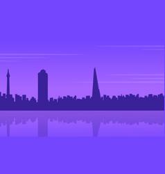 silhouette of london building beauty landscape vector image