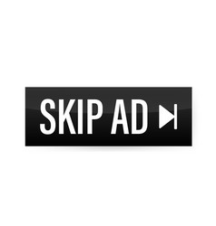 Skip advertisement web icon isolated on white vector