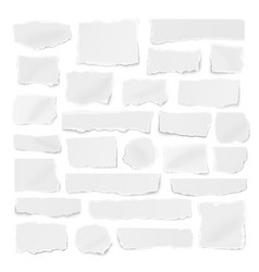 Square set paper different shapes ripped vector