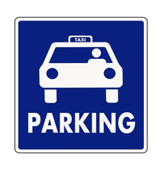 Taxi parking sign vector