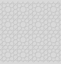 traditional arabic geometric seamless pattern vector image