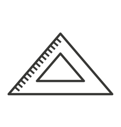 triangle rule isolated icon design vector image