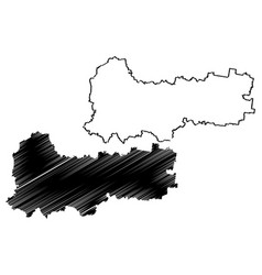 Vologda oblast map vector