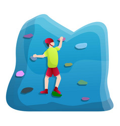 workout wall climbing icon cartoon style vector image