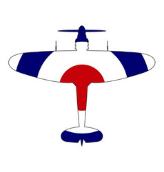 World war 2 fighter red white blue silhouette vector