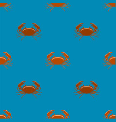 boiled red crab with giant claws seamless pattern vector image