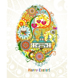 Abstract Easter egg background vector image