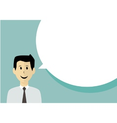 Businessman with speech bubble vector image vector image