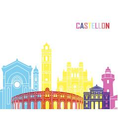 castellon skyline pop vector image vector image