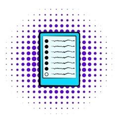 Diagram of brain activity icon comics style vector image vector image
