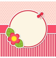 Frame with flower vector image vector image