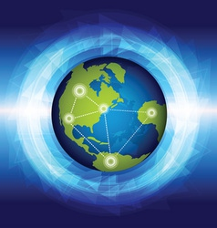 global connection vector image