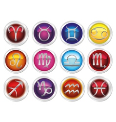 horoscope zodiac signs vector image vector image