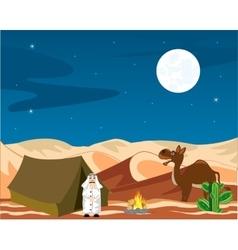 Nomad in desert vector image vector image