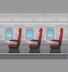 passenger airplane red interior aircraft vector image