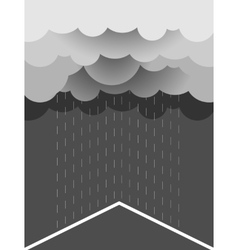 Rain image with dark clouds in wet day vector image