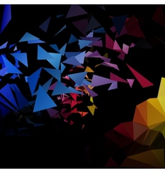 Triangles explosion background poligonal-art vector image vector image