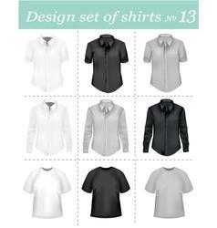 black and white men polo shirt vector image vector image